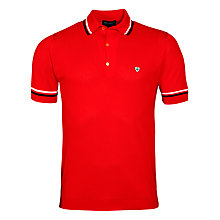 Buy John Smedley Pique Cotton McIlroy Polo Shirt, Firecracker Online at johnlewis.com