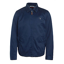 Buy Gant Windcheater Cotton Jacket, Navy Online at johnlewis.com