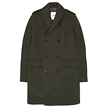 Buy Ben Sherman Shawl Collar Coat, Green Online at johnlewis.com
