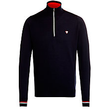 Buy John Smedley Whitaker Half Zip Merino Wool Jumper, Midnight Online at johnlewis.com