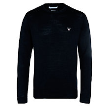 Buy Gant Washed Cotton Crew Neck Jumper Online at johnlewis.com