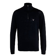 Buy Gant Cotton Half Zip Jumper Online at johnlewis.com