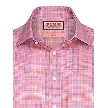 Buy Thomas Pink Mcrae Check Double Cuff Long Sleeve Shirt, Red/Blue Online at johnlewis.com