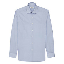 Buy Reiss Tulsa Double Button Collar Shirt, Blue Online at johnlewis.com
