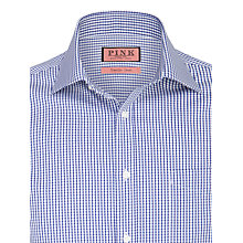 Buy Thomas Pink Burley Check Non-Iron Long Sleeve Shirt, Navy/White Online at johnlewis.com