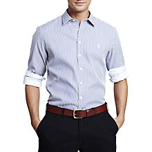 Buy Thomas Pink Albin Stripe Button Cuff Long Sleeve Shirt, Navy/White Online at johnlewis.com