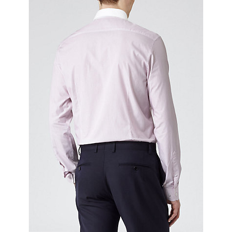 Buy Reiss Alpha Curved Contrast Collar Long Sleeve Shirt Online at johnlewis.com