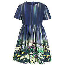 Buy John Lewis Girl Flower Border Print Dress, Multi Online at johnlewis.com