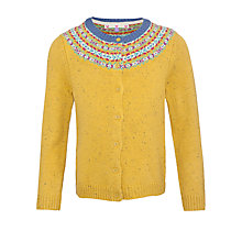 Buy John Lewis Girl Fair Isle Knit Cardigan, Yellow Online at johnlewis.com