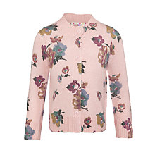 Buy John Lewis Girl Floral Printed Cardigan, Vintage Pink Online at johnlewis.com