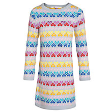 Buy John Lewis Girl Knitted Heart Sequin Dress, Multi Online at johnlewis.com