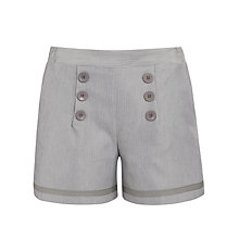 Buy Loved & Found Pinstripe Sailor Shorts, Grey Online at johnlewis.com