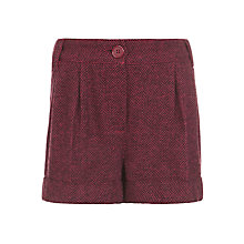 Buy John Lewis Girl Herringbone Shorts, Red Online at johnlewis.com