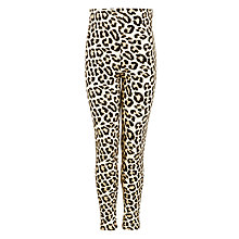 Buy John Lewis Girl Leopard Print Leggings, Brown/Yellow Online at johnlewis.com