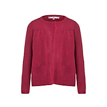 Buy John Lewis Girl Lead In Cardigan, Red Online at johnlewis.com