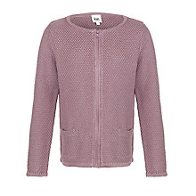 Buy Kin by John Lewis Girls' Zip-Through Cardigan, Purple Sage Online at johnlewis.com