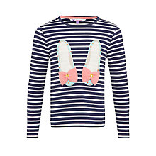 Buy John Lewis Girl Stripe and Ballet Shoe Top, Blue/Multi Online at johnlewis.com