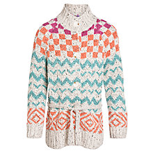 Buy John Lewis Girl Zigzag Longline Cardigan, Multi Online at johnlewis.com
