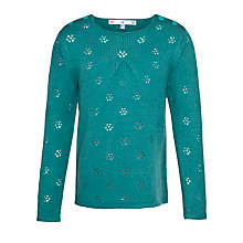 Buy John Lewis Girl Pointelle Jumper, Blue Online at johnlewis.com