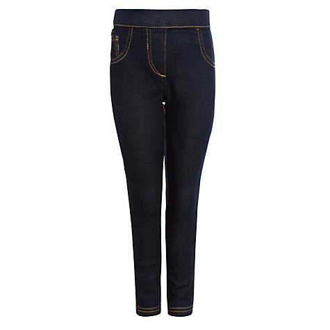 Buy John Lewis Girl Denim Jeggings, Dark Blue Online at johnlewis.com