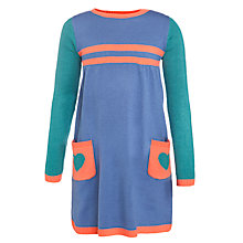Buy John Lewis Girl Heart Pocket Colour Block Dress, Multi Online at johnlewis.com