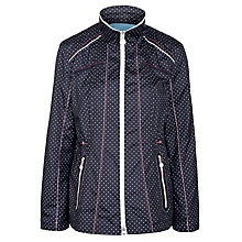 Buy Gerry Weber Showerproof Spotty Jacket,  Navy/White Online at johnlewis.com
