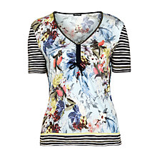 Buy Gerry Weber Drawstring T-Shirt, Floral Blue Online at johnlewis.com