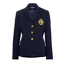 Buy Lauren Ralph Lauren Embroidered Wool Blazer, Regal Navy Online at johnlewis.com