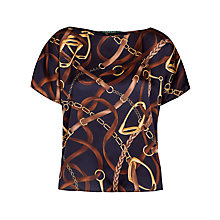 Buy Lauren Ralph Lauren Bridle-Print Shell Top, Regal Navy Online at johnlewis.com