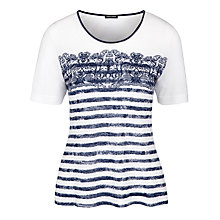 Buy Gerry Weber Striped Pattern T-Shirt, Indigo/White Online at johnlewis.com