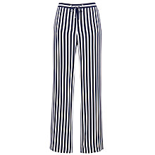 Buy Gerry Weber Striped Wide Leg Trouser, Indigo/White Online at johnlewis.com