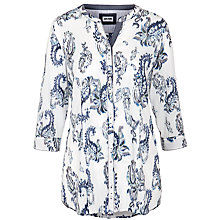 Buy Gerry Weber Paisley Placket Shirt, White/Blue Online at johnlewis.com