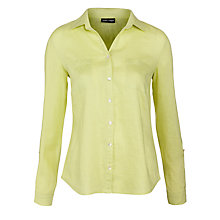 Buy Gerry Weber Linen Shirt, Pale Lime Online at johnlewis.com