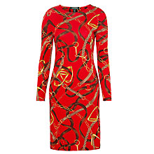 Buy Lauren Ralph Lauren Print Dress, Rich Red Online at johnlewis.com