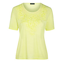 Buy Gerry Weber Applique Denim Effect T-Shirt Online at johnlewis.com