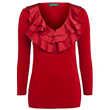 Buy Lauren Ralph Lauren Markey Knit, Rich Red Online at johnlewis.com