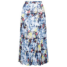 Buy Gerry Weber Crinkle Print Skirt, Blue Print Online at johnlewis.com