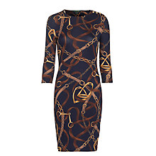 Buy Lauren Ralph Lauren Loxlynn Dress, Regal Navy Online at johnlewis.com