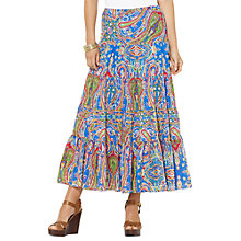 Buy Lauren Ralph Lauren Moriah Skirt, Royal Multi Online at johnlewis.com