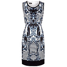 Buy Gerry Weber Striped Print Dress, Blue/White Online at johnlewis.com