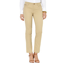 Buy Lauren Ralph Lauren Slimming Stretch-Cotton Trousers, Camel Online at johnlewis.com