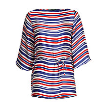 Buy Lauren Ralph Lauren Oversized Stripe Top, Regal Navy Online at johnlewis.com