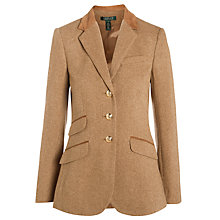 Buy Lauren Ralph Lauren Helaine Three Button Jacket, Camel Online at johnlewis.com