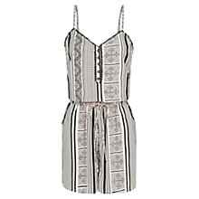 Buy Mango Ethnic Printed Playsuit, Natural White Online at johnlewis.com