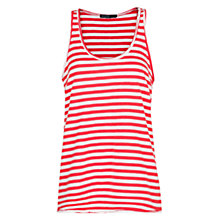 Buy Mango Stripe Scoop Vest Top, Medium Red Online at johnlewis.com