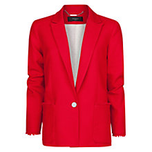 Buy Mango Frayed Edge Blazer, Medium Pink Online at johnlewis.com