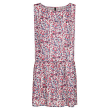 Buy Mango Lightweight Print Dress, Medium Blue Online at johnlewis.com
