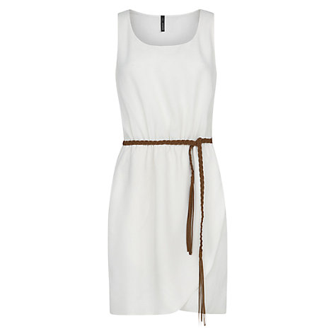 Buy Mango Texture Wrap Dress, Natural White Online at johnlewis.com