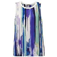 Buy Jigsaw Paintbrush Stroke Silk Top, Multi Online at johnlewis.com