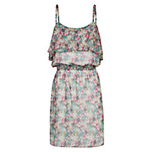 Buy Mango Ruffle Floral Dress, Dark Green Online at johnlewis.com